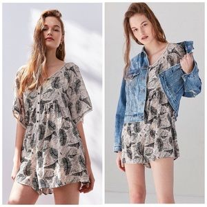 Urban Outfitters Ecote Allie Babydoll Romper